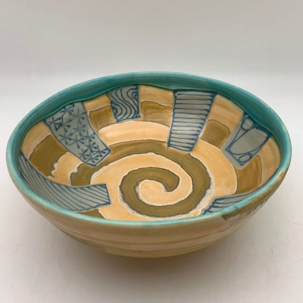 Decorated Porcelain Bowl by Claire Weissberg
