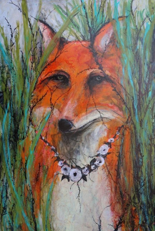 Fox in Grass by Kelsey McDonnell painting
