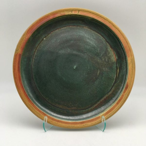 Green Porcelain Plate by Margo Brown