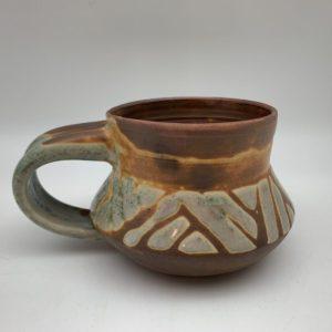 Patterned Porcelain Mug by Margo Brown