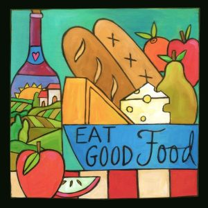 """Healthy Living 6"""" Plaque by Sincerely Sticks"""