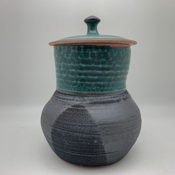 Turquoise and Black Jar by Margo Brown