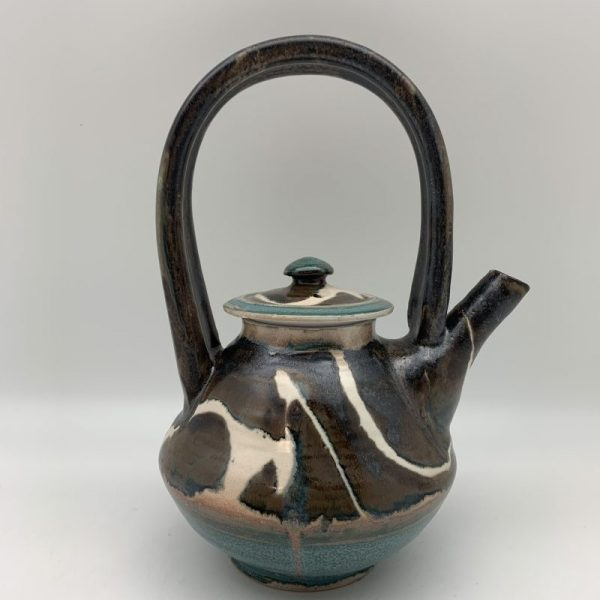 Brown Porcelain Teapot by Margo Brown - 1781
