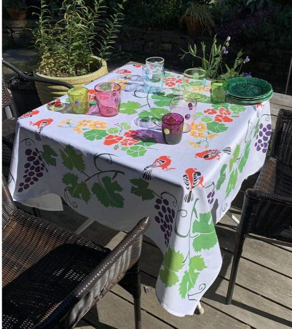 Grape Arbor Tablecloth by Mim & Poppy