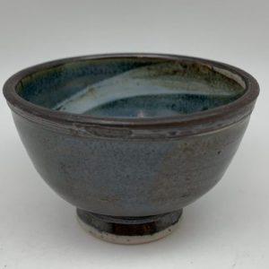 Tiny Porcelain Swirl-Design Bowl by Margo Brown