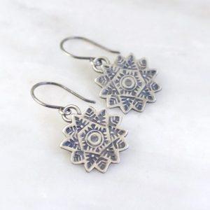 Snowflake Earrings by Sarah Deangelo