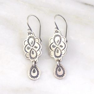 Peacock Drop Earrings Sarah Deangelo