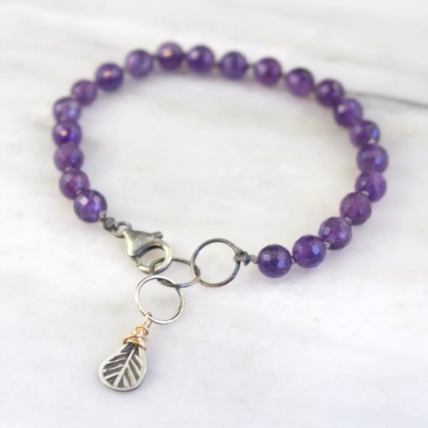 Amethyst Knotted Bracelet Sarah Deangelo