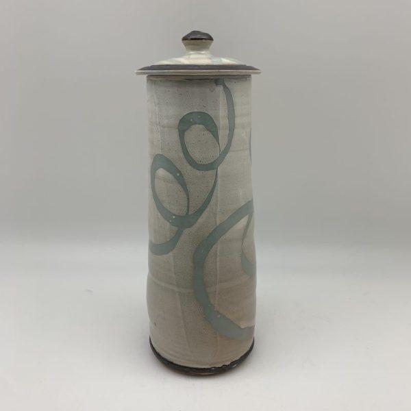 Tall Loop Design Jar by Margo Brown - 1992