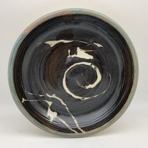 Brown Porcelain Pie Plate by Margo Brown
