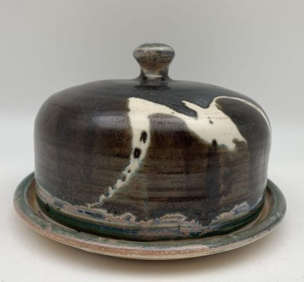 Brown Porcelain Butter Dish by Margo Brown