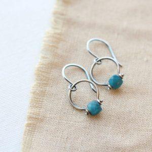 Apatite La Cloche Earrings Sarah Deangelo