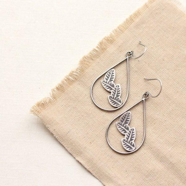 Garland Teardrop Hoop Earrings Sarah Deangelo