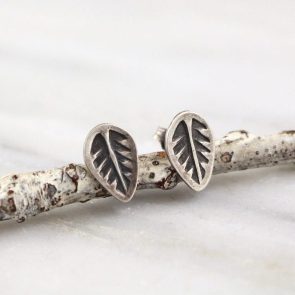 Leaf Post Earrings Sarah Deangelo