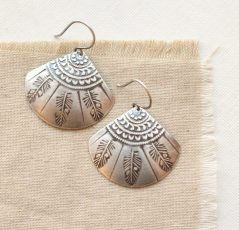 Tribal Feather Fan Earrings Sarah Deangelo