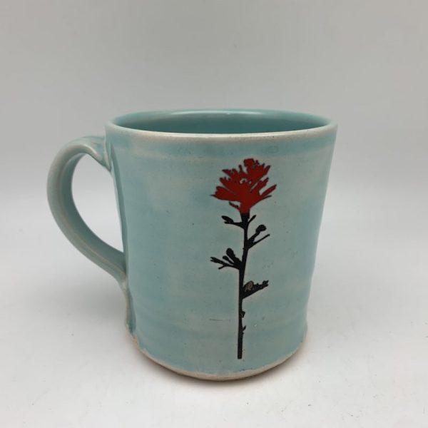 Morning Teal Indian Paintbrush Mug Stephen Mullins Red Bison Studio