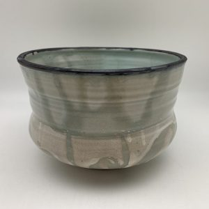Tall String-Pattern Bowl by Margo Brown - 2163