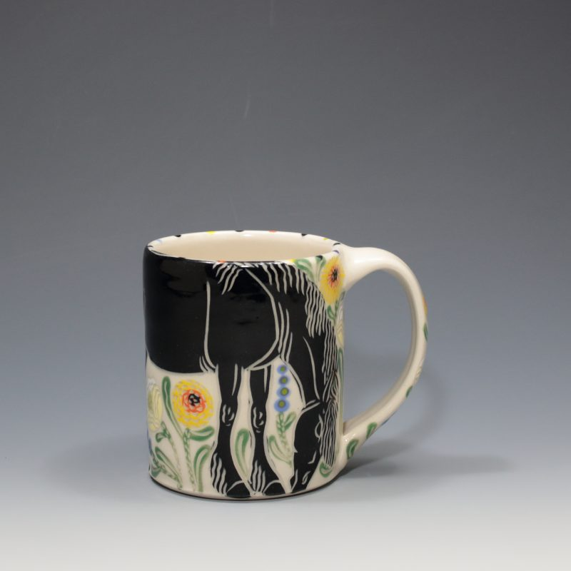 Black Horse Mug Sue Tirrell
