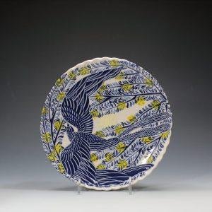 Blue Bird Dinner Plate Sue Tirrell