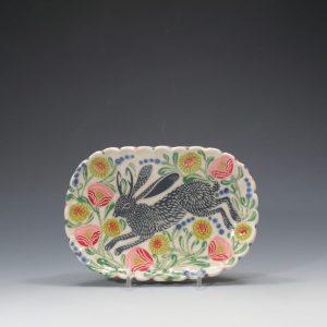Gray Jackalope Butter Plate Sue Tirrell