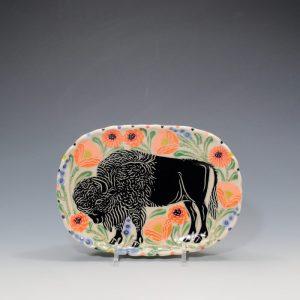 Black Bison Butter Plate