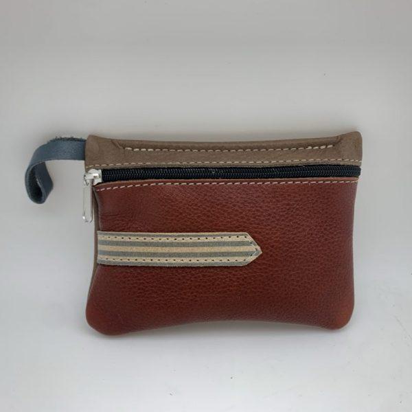 Mini Stash Bag by Traci Jo Designs - Brown/Striped