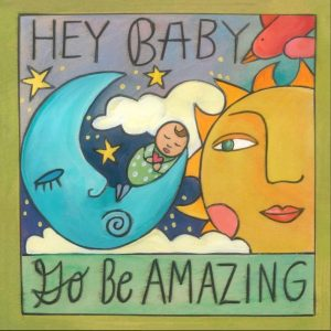 """Welcome to the World 6"""" Plaque by Sincerely Sticks"""