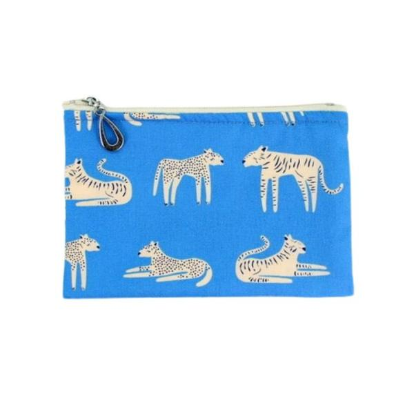 Cotton Coin Purse by Dana Herbert - Periwinkle Tiger