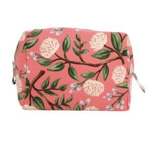 Medium Cosmetic Bag by Dana Herbert - Coral Peony