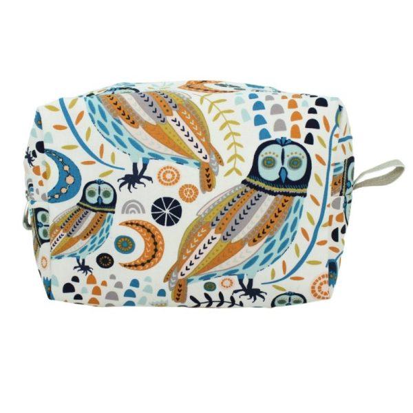 Medium Cosmetic Bag by Dana Herbert - Owl
