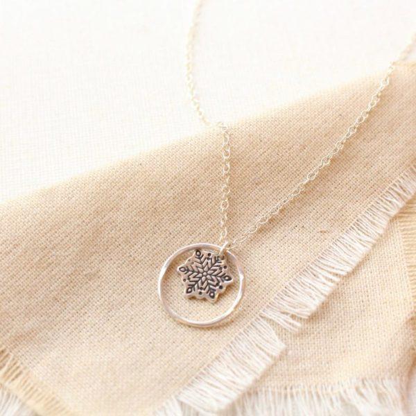 Snowflake Hoop Necklace