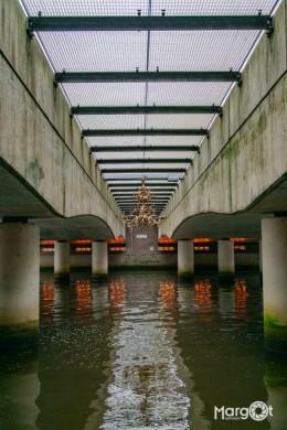 Kroonluchter onder de spoorbrug (Eemhaven) - Amersfoort