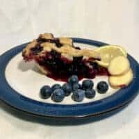 lemon ginger blueberry pie