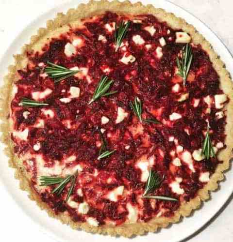 Caramelized Onion, Beet and Feta Tart Recipe