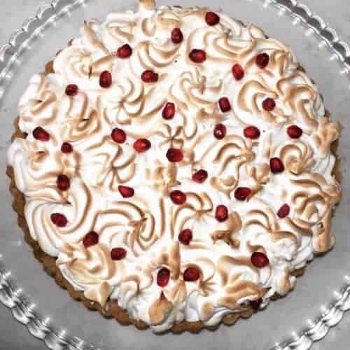 Pomegranate Meringue Tart