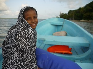 Boat captain Hassan's daughter