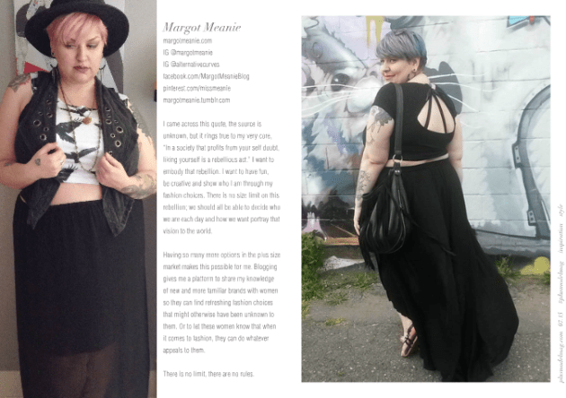 PLUS MODEL MAGAZINE July 2015 the 9th Anniversary Issue blogger celebration Margot feature