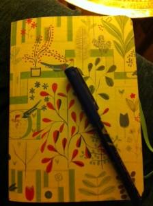 Margot's little book of scribblings.