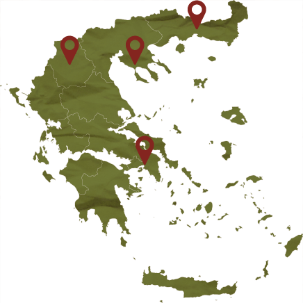 Chardonnay map locations, Tourism - Itineraries - Greek wine