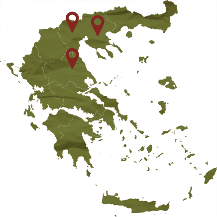 Xinomavro map locations, Tourism - Itineraries - Greek wine