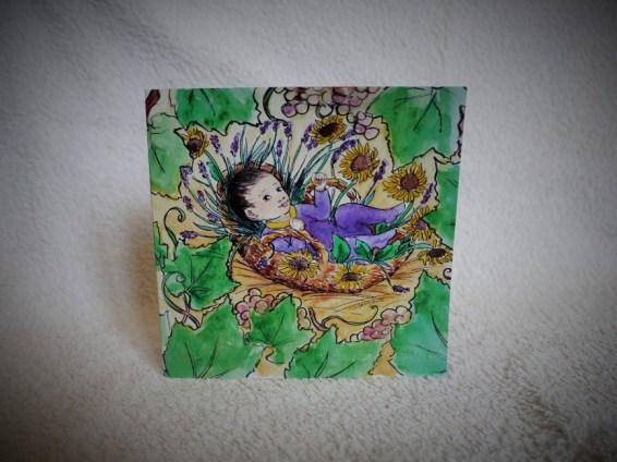 Faire-part de naissance - illustration à l'encre de Chine et aquarelle