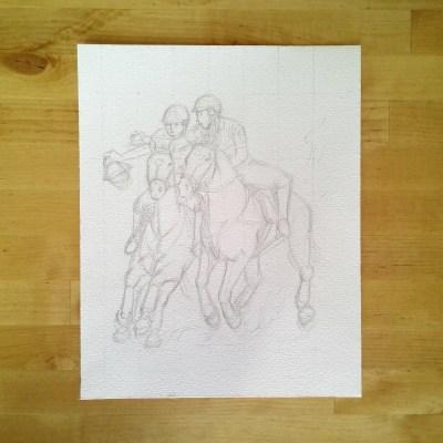 Horse-ball 2 - crayonné