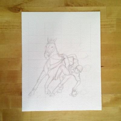 Horse-ball 3 - crayonné