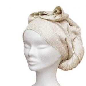 serviette à cheveux en bambou