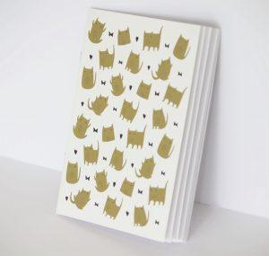 carnet de note chat doré