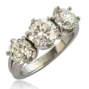 Three Diamond Engagement Ring Image