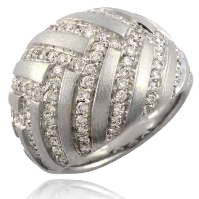 Vintage Diamond Dome Ring Image