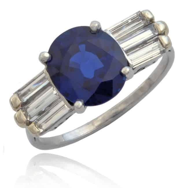 Retro/Moderne Sapphire & Diamond Ring Image