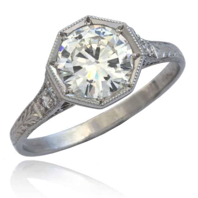Art Deco Diamond Engagement Ring Image