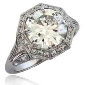 """""""Belle Époque""""-revival Diamond Engagement Ring Image"""